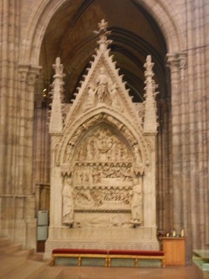 Tomb of Dagobert I who was King of the Franks from 629-634; Dagobert was the first of the Frankish kings to be buried at St. Denis