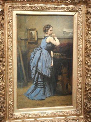 Corot, The Lady in Blue, 1874; considered Corot's masterpiece