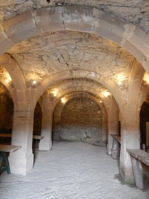 This Gothic vaulted cellar lies beneath the Stolzembourg house and was built in 1384; restoration works are ongoing with a museum under construction