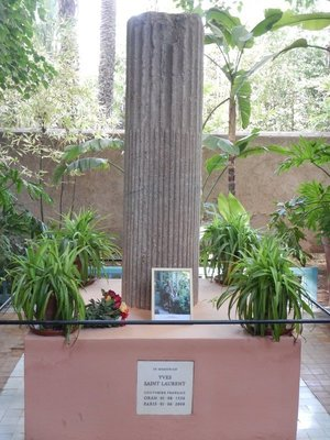 The Majorelle Garden was bought and restored by Yves St Laurent
