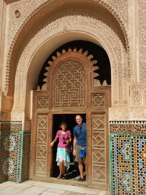 Ben-Youssef Mosque; Marrakech was founded in 1092; the old city is now a UNESCO World Heritage Site