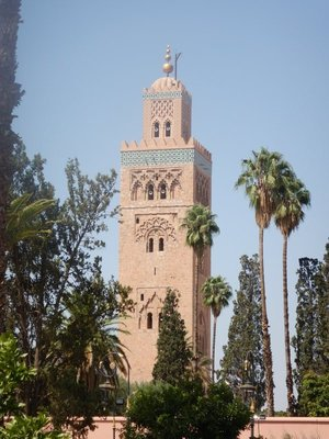 The minaret from the Koutoubia Mosque (1199) went on to inspire the Giralda in Seville