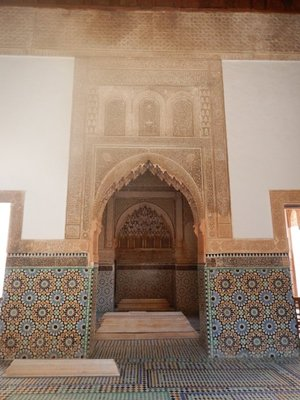Saadian Tombs; the tourist sights in Marrakech are very spread out; since cars are prohibited from much of the old town it means you do a lot of walking