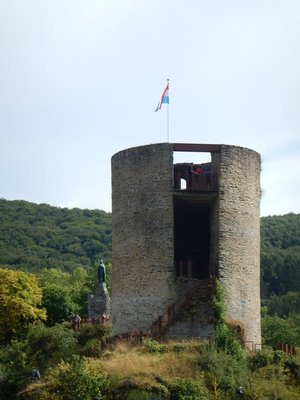 The southern guardhouse for the castle is about 800 years old; it is now separated from the rest of the castle so you have to climb the hill twice