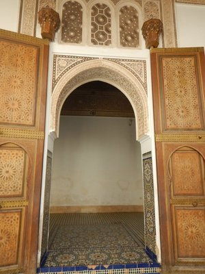 Rooms in the Bahia Palace often had double doorways to protect occupants from being seen from the outside