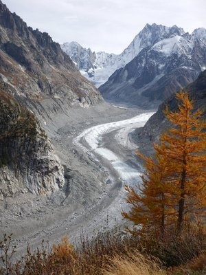 The Mer de Glace glacier has retreated significantly since my visit only 3 years ago
