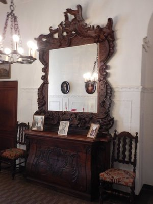 This was originally an altar before being purchased for the castle; most of the furniture is from the 18th and 19th centuries