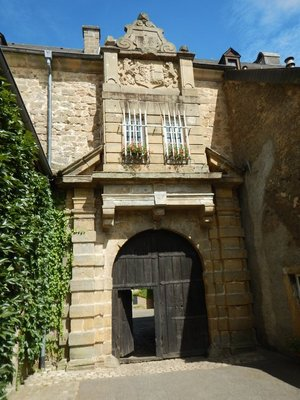 The capstone at the top of the entrance to the Renaissance Castle shows the date it was built - 1649; imagine living here with World War 2 raging nearby