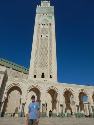 Mosque completed in 1993 and the largest in Morocco