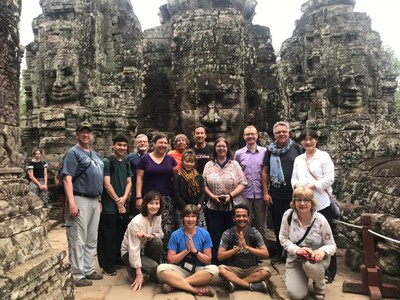 The third level of Bayon temple brought us to the famous stone Buddhas; the temple has been described as the most striking expression of the baroque style of Khmer architecture, as contrasted with the classical style of Angkor Wat