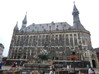 Aachen City Hall was part of Charlemagne's monumental palace complex built around 800; during Charlemagne's reign, Aachen was the most influential center of culture in Europe