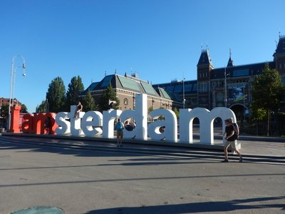 Amsterdam has 850,000 residents in the city proper with 2.4 million in the metro area; the city is home to the Amsterdam Stock Exchange which is the oldest in the world