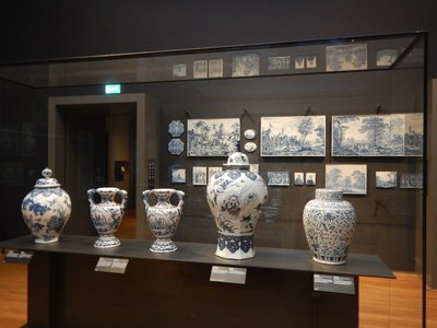 The Rijksmuseum is the most visited in the Netherlands with 2.5  million guests annually; the 1885 building is the largest art museum in the country and includes signature pieces like Delftware