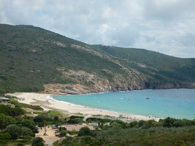 The Plage d'arone is a remote beach at the end of Capo Rossa; tons of hiking trails throughout the peninsula