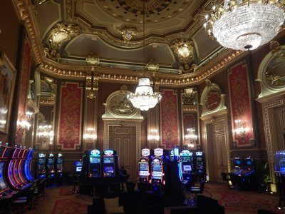 Most of the casino is dedicated to roulette and table games but there are a couple of salons with slot machines