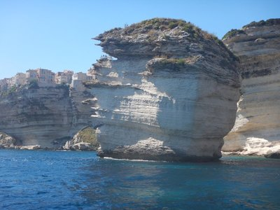 The Grain of Sand seen from the sea; the boat trip to Iles Lavezzi included a nice tour of the coastline on the way back