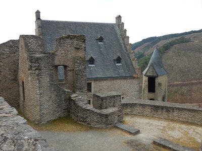 The Castle courtyard was finished around 1477; Victor Hugo visited the castle in September 1865