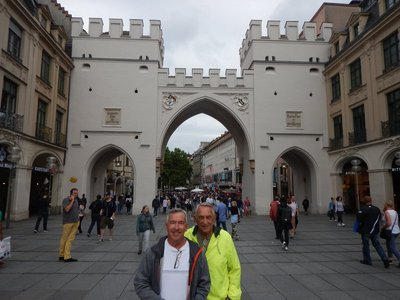 Karlstor was built around 1300 and is one of the three remaining Gothic town gates (there were originally five); it now connects the central pedestrian area with the train station (where Bob and David met me)