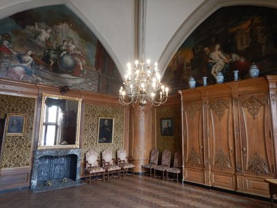 The Master Craftsman's Court in City Hall; super impressive old building with the best views in Aachen