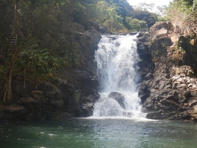 This was the first waterfall we reached on our Four Waterfalls Hike at mile 6 on the Road to Hana; the hike was my favorite of the ones we did this trip