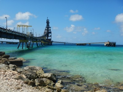 Salt Pier; open only when no ship is present, this dive site is one of the most popular on the island
