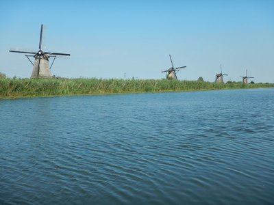 I generally love Rick Steves's books but he doesn't even mention Kinderdijk in his Amsterdam and the Netherlands book; a Viking River Cruise boat was docked right next to the windmills