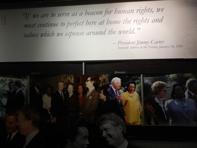 The MLK National Historic Site has a room dedicated to Jimmy Carter and Martin Luther King Jr and their worldwide impact on human rights
