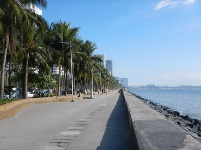 The Baywalk was a nice promenade along dirty Manila Bay; one day they were having a huge clean-up effort with volunteers wading in the water and bagging any trash/debris