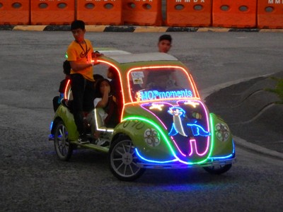 You could rent one of this punked out cars to pedal around the entrance to the aquarium; the Philippines were named for the great grandson of Spain's Ferdinand and Isabella