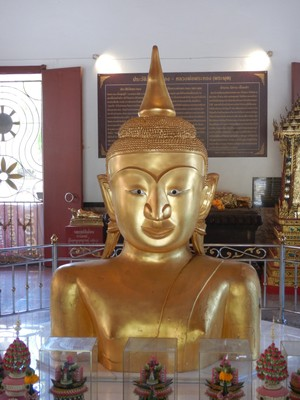 The Temple of the Golden Buddha is 250  years old and has many legends surrounding it; whenever anyone tried to excavate more of the buddha they were met with misfortune