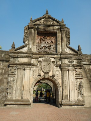 Built in 1571 Fort Santiago served as headquarters of the Philippines division of the US Army during WW2; the fort, at the entrance to the Pasig River, is the main historical attraction in the city