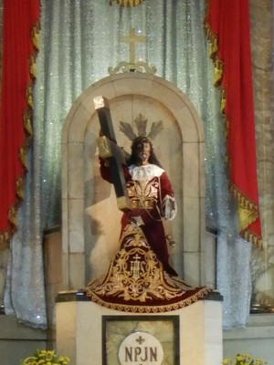 Quiapo Church is the famous home for the Black Nazarene, a dark statue of Jesus Christ said to be miraculous; the dark figure of Christ was brought to the country in a Spanish galleon in the 17th century