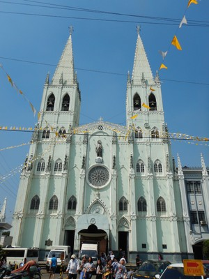 Completed in 1891, the San Sebastian Church is the first and only all-steel church in Asia; it has long been reported that Gustave Eiffel was involved in the design and construction of this church but no one knows definitively