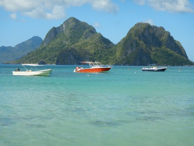 Palawan is a 650 km long island that stretches all the way down to Borneo; the region is the most sparsely populated in the Philippines with many uninhabited islands