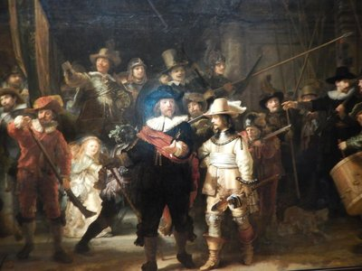Rembrandt, The Night Watch aka The Militia Company of Frans Banninck Cocq, 1642; Rembrandt's most famous painting and the star attraction at the museum