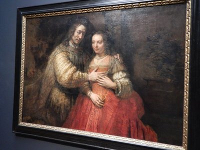 Rembrandt, The Jewish Bride aka Isaac and Rebecca, 1665-1669; the artist was the greatest of the Dutch masters and his death marked the end of the Golden Age