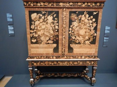 Van Mekeren, cabinet, 1710; this spectacular example is from the most important Amsterdam cabinetmaker of the 17th century