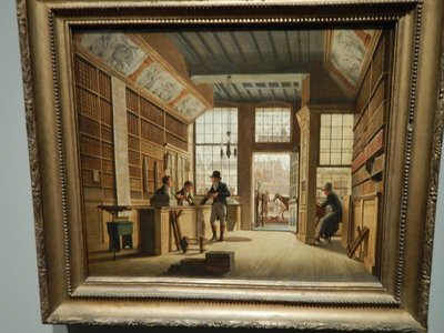 Jelgerhuis, The Shop of the Bookdealer Pieter Meijer Warnars on the Vijgendam in Amsterdam, 1820; the artwork of the time is sensational when you consider that this is before the photograph and modern creature comforts