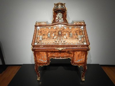 Roentgen, Desk, 1760; this desk (made for the Archbishop of Trier) is the greatest showpiece ever made by Abraham Roentgen, the most famous German cabinetmaker of his time