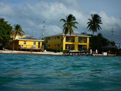 I stayed 2 nights in Grand Cayman in order to get a cheaper airfare; these yellow apartments were the cheapest lodging I could find and they weren't cheap