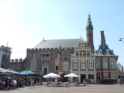 The Haarlem City Hall started as a royal hunting lodge in the mid-1200s; rebuilt after a fire in 1351, this building has served as city hall since about 1400
