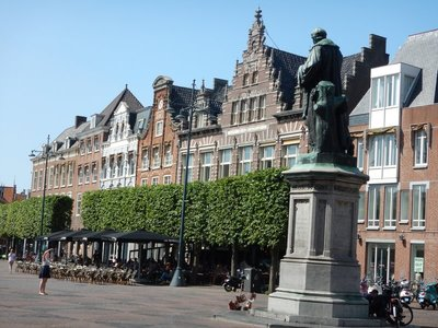 The Grote Markt (Market Square) is the town's delightful centerpiece where 10 streets come together; it has been here for 700 years and, since the 1990s, entirely car free