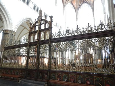 This ornate copper choir screen at St. Bavo Church is from 1517; just behind it is the grave of the Netherlands' greatest Golden Age portrait painter, Frans Hals