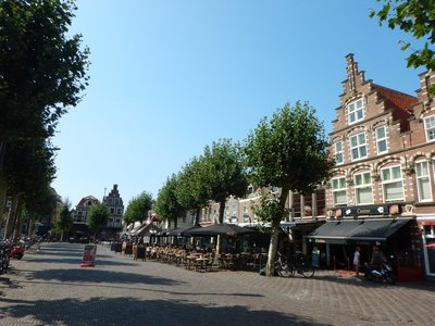 The Botermarkt is typical of spaces used for weekly neighborhood markets; it's also where locals can gather to socialize most evenings