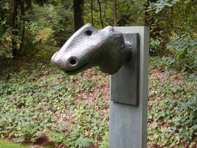 Henry Moore, Animal Head, 1956; the sculpture garden and museum are located within the Netherlands largest national park