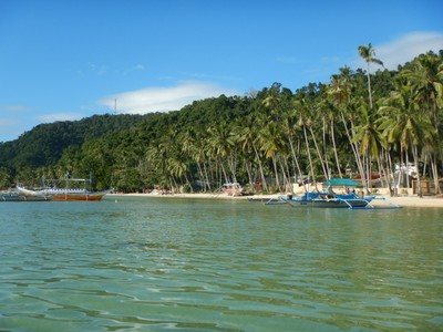 7 Commandos Beach is located on the mainland of Palawan but is only accessible by boat/kayak; it is a popular stop on the island hopping tours