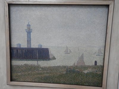 Seurat, Harbor Entrance at Honfleur, 1886; Helene Kroller-Muller donated her collection to the Netherlands in 1938
