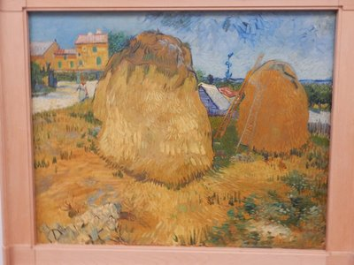 Van Gogh, Wheat Stacks in Provence, 1888; this museum has the second most Van Gogh's in the world (87) after the Van Gogh Museum in Amsterdam