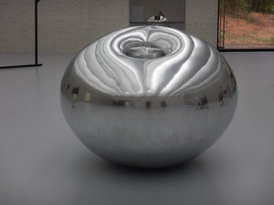 Kapoor, Turning the World Inside Out, 1993; the Houston Museum of Fine Arts recently acquired a Kapoor which stands in Glassell School Plaza