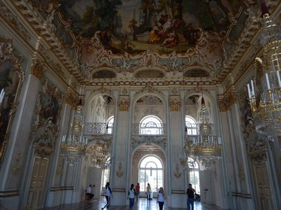 The Grand Hall, 1760, is one of the best preserved Rococo rooms in Bavaria and was the site of big Wittelsbach family festivals; admission for the palace and the four smaller, outer palaces was 10 euros